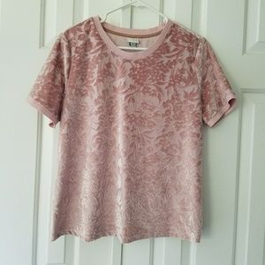 Tops - Crushed Pink Velvet Top